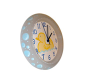 Handpainted wall clock - Rubber ducky bath theme