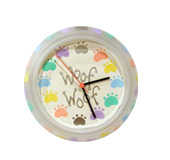 Handpainted wall clock - Paws theme