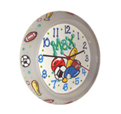 Handpainted wall clock - Roses theme