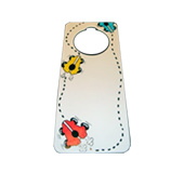 Painted door hanging tags
