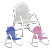 Baby gits, toddler gifts, plastic/mesh rocking chairs to personalize