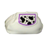 Handpainted ceramic purse bank - white leopard theme